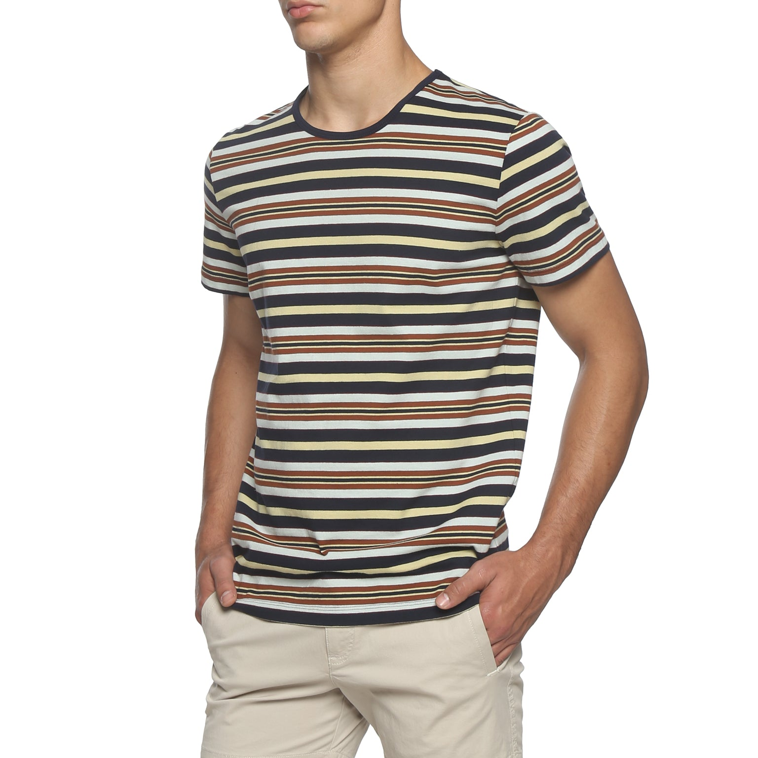 Brown / Blue Stripe