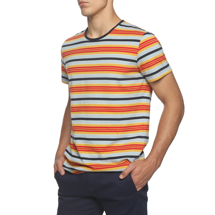 Orange / Sky Stripe