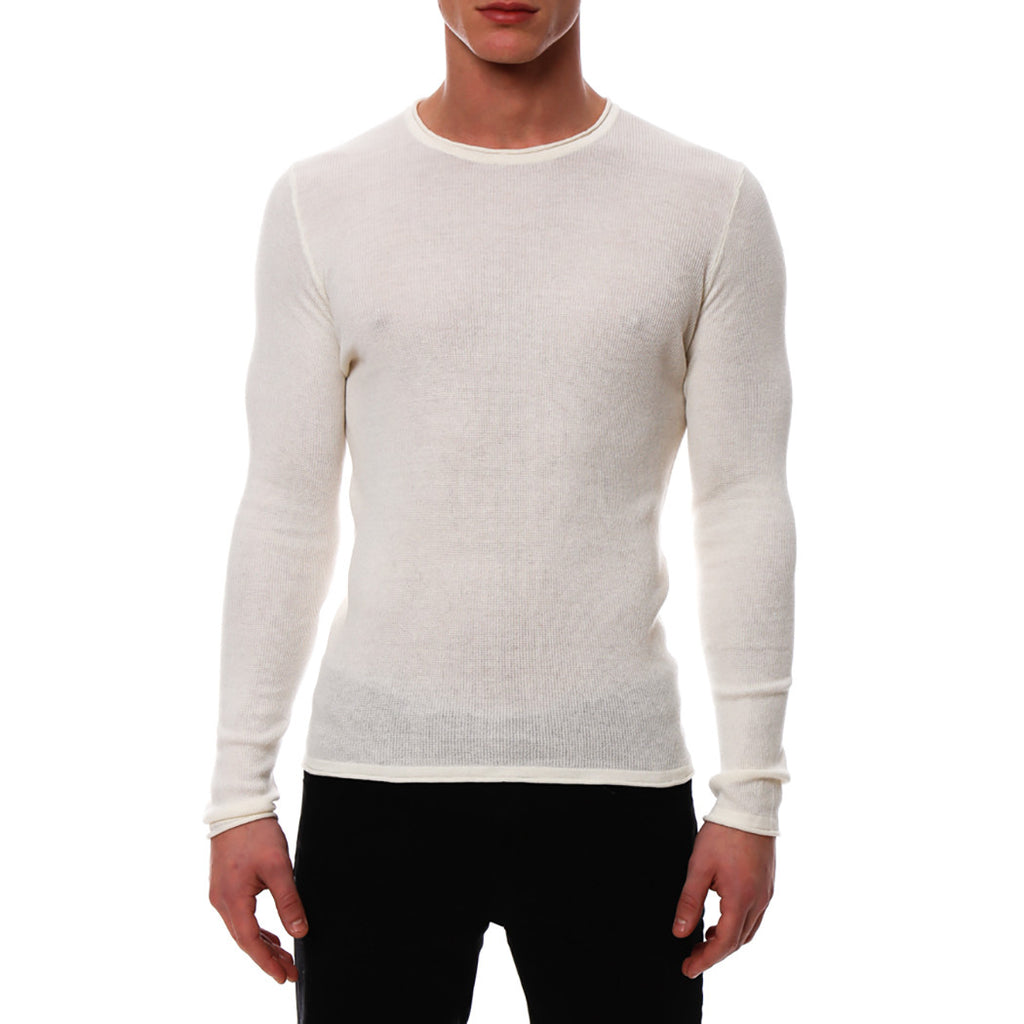 [parke & ronen] Solid Long Sleeve Thermal - white
