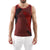 [parke & ronen] Feather Printed Tank Top - brick (Thumbnail)