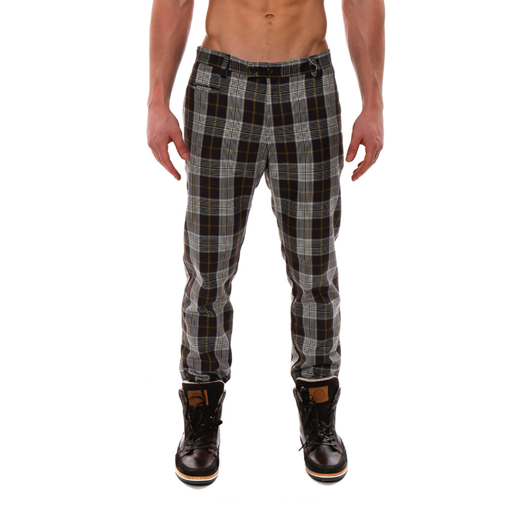 [parke & ronen] Plaid Lido Trouser - yellow plaid