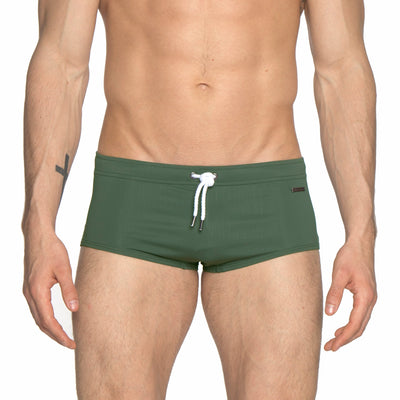 Army Green Solid Corcovado Brief - parke & ronen