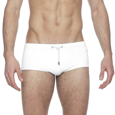 White Solid Corcovado Brief - parke & ronen