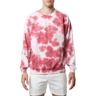 Red Brea Blot Wash Sweatshirt - parke & ronen