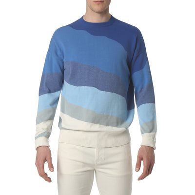 Blue Skyline Sweater - parke & ronen