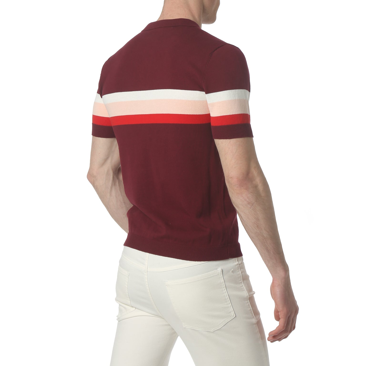 Musketeer Stripe Burgundy