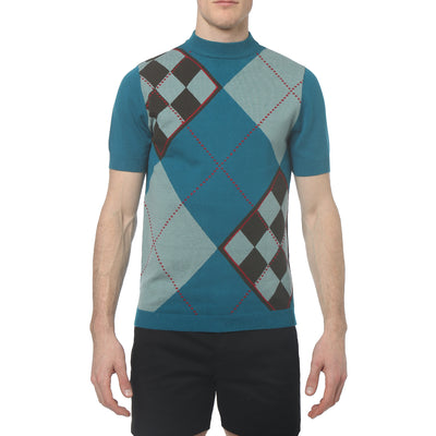 Peat Green Ivan Argyle Mock Neck - parke & ronen