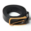 [parke & ronen] Leather Belt Gold - leather black (Thumbnail)