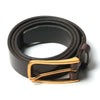 [parke & ronen] Leather Belt Gold - leather brown (Thumbnail)
