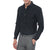 [parke & ronen] Solid Long Sleeve Slim Fit Lowell Casual Shirt - Black (Thumbnail)