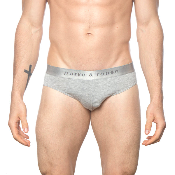 NEW ARRIVAL - Heather Grey Solid Low-Rise Brief