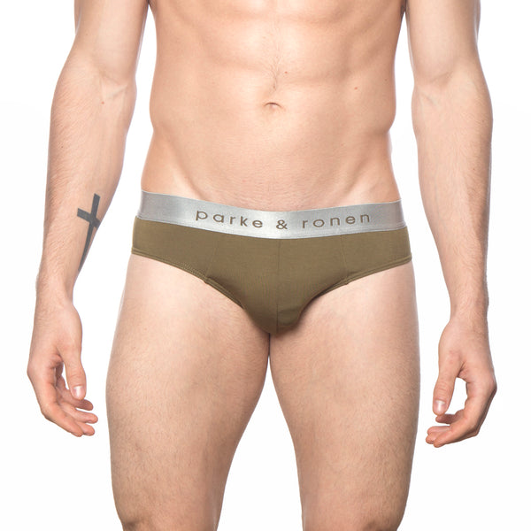 NEW ARRIVAL - Army Solid Low-Rise Brief