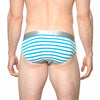 [parke & ronen] NEW ARRIVAL - Turquoise Stripe Yarn-Dye Low Rise Brief - turquoise stripe (Thumbnail)