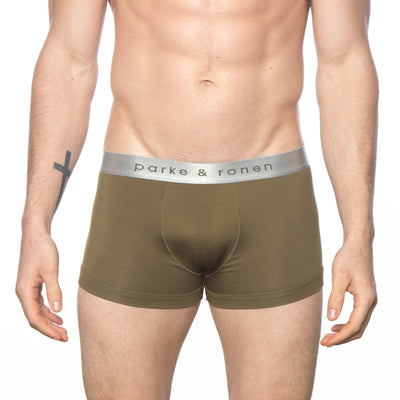 Army Solid Low-Rise Trunk - parke & ronen