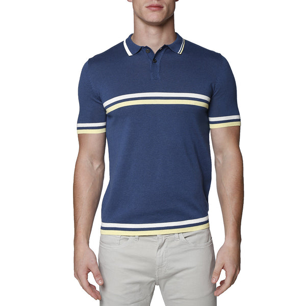 Contrast Striped Jet Age Knit Polo