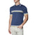 [parke & ronen] Contrast Striped Jet Age Knit Polo - cadet blue (Thumbnail)