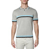 [parke & ronen] Contrast Striped Jet Age Knit Polo - dove grey (Thumbnail)