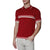 [parke & ronen] Contrast Striped Jet Age Knit Polo - crimson (Thumbnail)