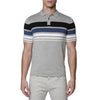 [parke & ronen] Contrast Striped Pipeline Knit Polo - dove grey (Thumbnail)