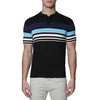 [parke & ronen] Contrast Striped Pipeline Knit Polo - black (Thumbnail)