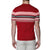 [parke & ronen] Contrast Striped Pipeline Knit Polo - crimson (Thumbnail)