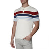 [parke & ronen] Contrast Striped Pipeline Knit Polo - ivory (Thumbnail)