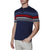 [parke & ronen] Contrast Striped Pipeline Knit Polo - navy (Thumbnail)