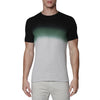 [parke & ronen] Dip Dye Short Sleeve Waffle Knit Thermal - charcoal/green (Thumbnail)