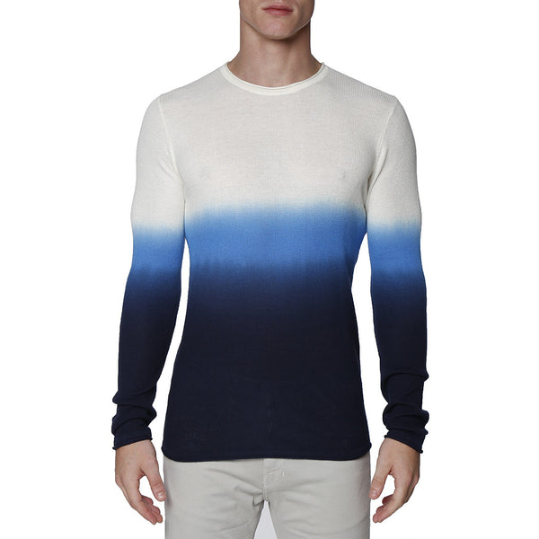 Dip Dye Long Sleeve Waffle Knit Thermal