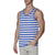 [parke & ronen] Contrast Striped Tank Top - royal/ivory stripe (Thumbnail)
