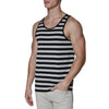 [parke & ronen] Contrast Striped Tank Top - black/grey stripe (Thumbnail)