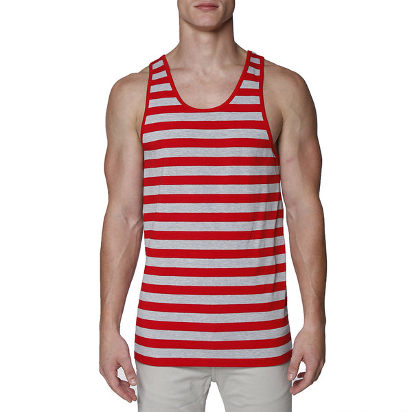 Contrast Striped Tank Top