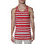 [parke & ronen] Contrast Striped Tank Top - red/grey stripe (Thumbnail)