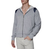 [parke & ronen] Solid French Terry Cloth Hoodie - heather grey (Thumbnail)