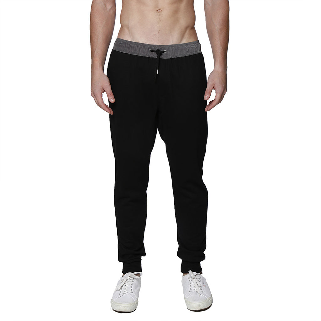 [parke & ronen] Solid French Terry Cloth Lounge Pant - black