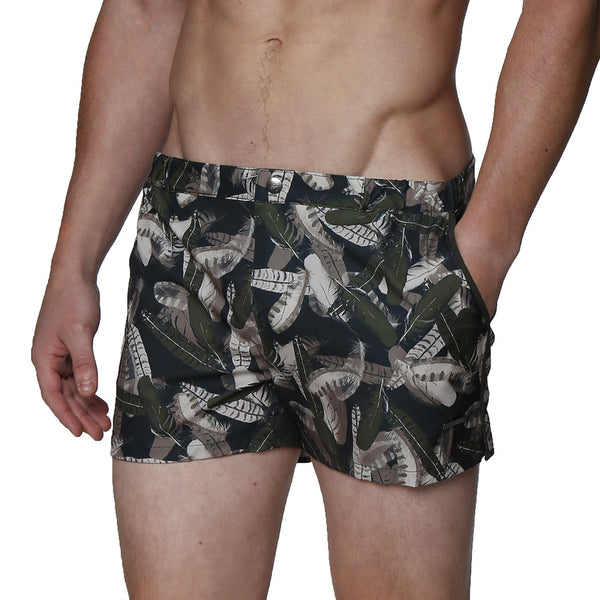 "2"" Angeleno Pluma Print Stretch Swim Short"