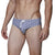 [parke & ronen] Swim Fan Print Meridian Bikini Brief - swim fan white (Thumbnail)