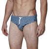 [parke & ronen] Diamond Print Meridian Bikini Brief - blue diamond (Thumbnail)