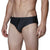 [parke & ronen] Diamond Print Meridian Bikini Brief - black diamond (Thumbnail)