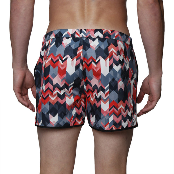 "2"" Miter Print Stretch Angeleno Swim Trunk"