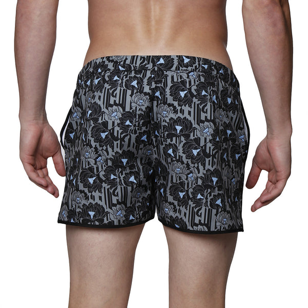 "2"" Cactus Blossom Print Stretch Angeleno Swim Trunk"