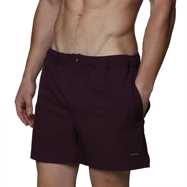 "5"" Dark Naples Solid Stretch Swim Trunk"