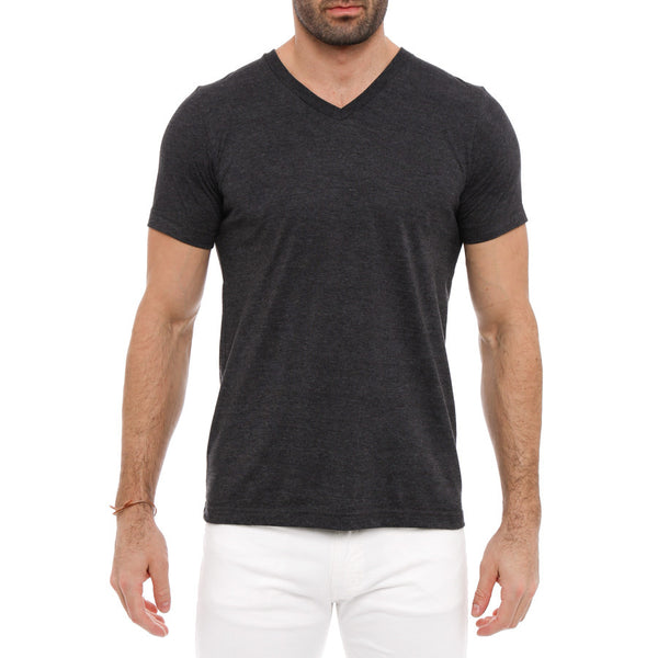 Solid Heather V-Neck Tee