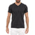 [parke & ronen] Solid Heather V-Neck Tee - charcoal (Thumbnail)