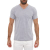 [parke & ronen] Solid Heather V-Neck Tee - grey (Thumbnail)