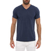 [parke & ronen] Solid Heather V-Neck Tee - navy (Thumbnail)