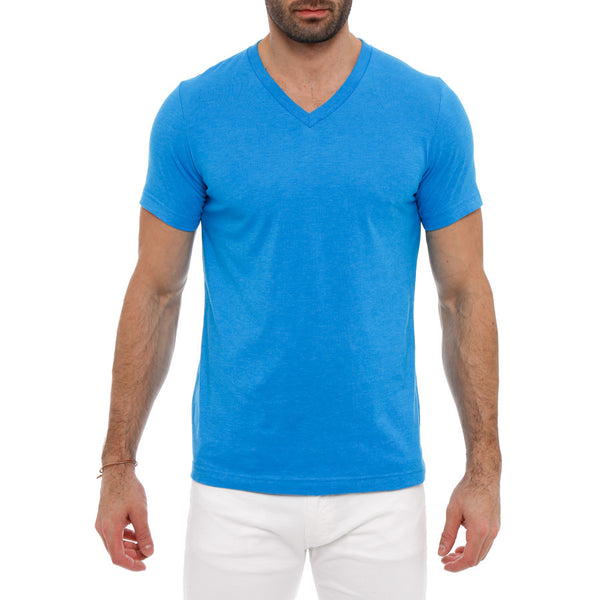 Solid Neon V-Neck Tee
