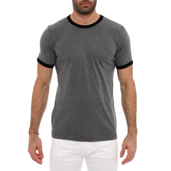 Contrast Jersey Ringer Tee