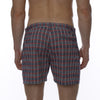 [parke & ronen] Glen Plaid Vintage Holler Mid-Thigh Short - navy plaid (Thumbnail)