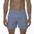 [parke & ronen] Glen Plaid Vintage Holler Mid-Thigh Short - sky plaid (Thumbnail)